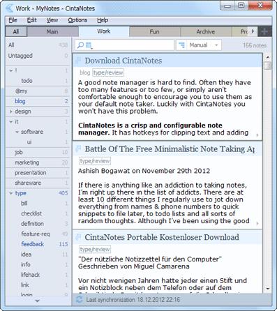 CintaNotes - легкий органайзер или удобные заметки