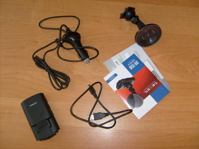 Комплектация видеорегистратора Texet DVR-115HD